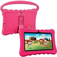 Tablet para Niños Pad para Niños,7 Pulgadas Tablet para niños con Sistema Operativo Google Android 5.1 y Caso de SiliconPantalla IPS,ROM de 8 (Pink)