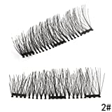 Amazon Price History for:New Dual Magnetic False Eyelashes - HOBO (4 Pieces) Ultra Thin 3D Fiber Reusable Best Fake Lashes Extension for Natural, Perfect for Deep Set Eyes & Round Eyes (4 pcs)