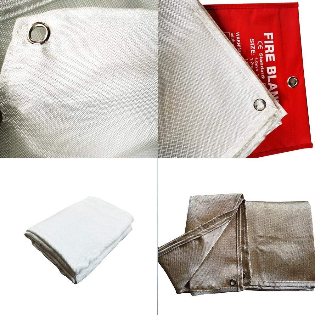 Depruies Fire Retardant Blanket Fiberglass Emergency Surival Blanket Small Welding Fireproof Thermal Resistant Insulation Welding Blanket and Fire Blanket