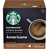 Starbucks House Blend – Americano Coffee Pods/ Coffee Capsules by Nescafe Dolce Gusto, 12 Servings