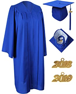 MyGradDay Unisex Matte Graduation Gown Cap Tassel 2018 and 2019 Year Charms 3c3ec151552e