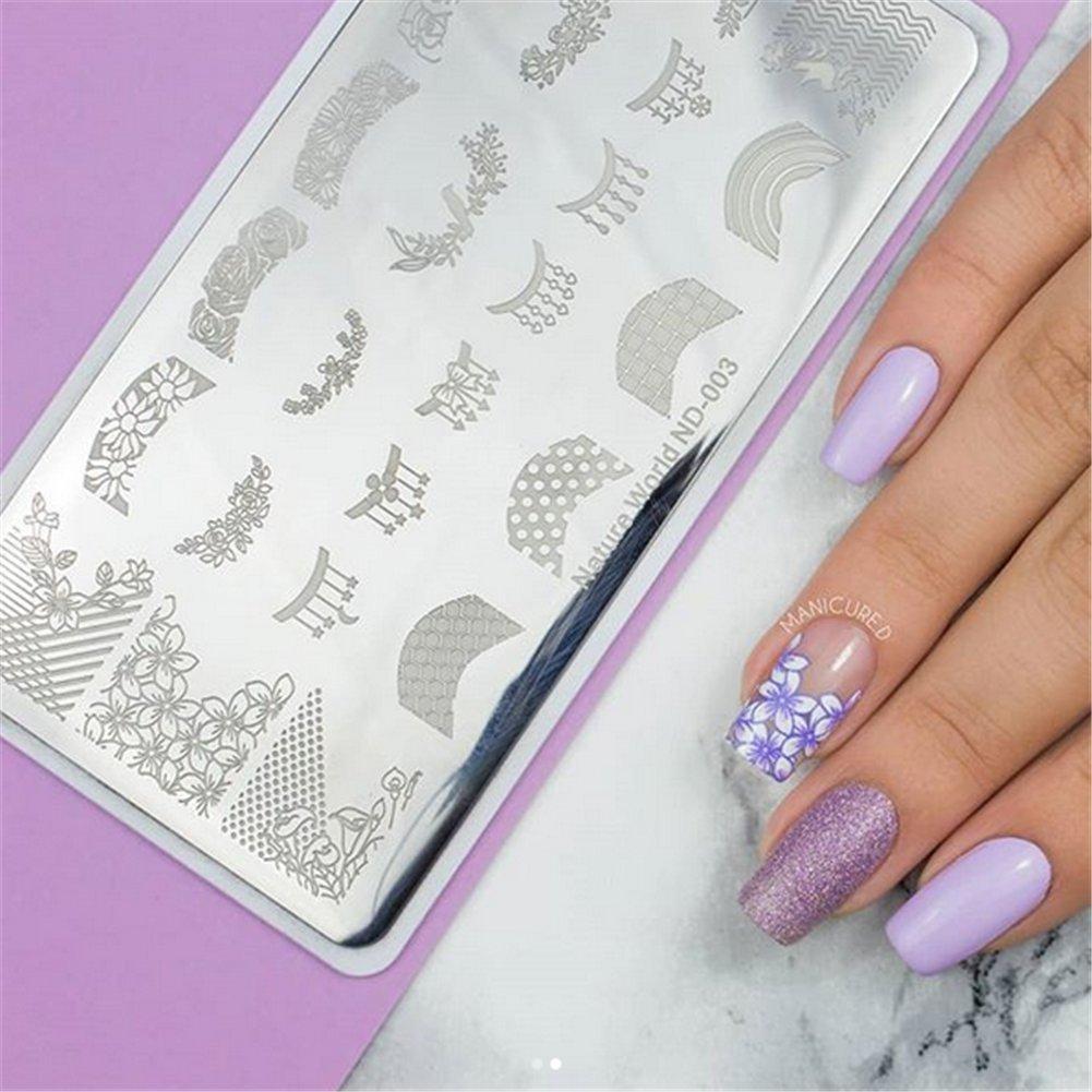 Amazon.com: NICOLE - Plantilla de estampado de uñas, diseño ...