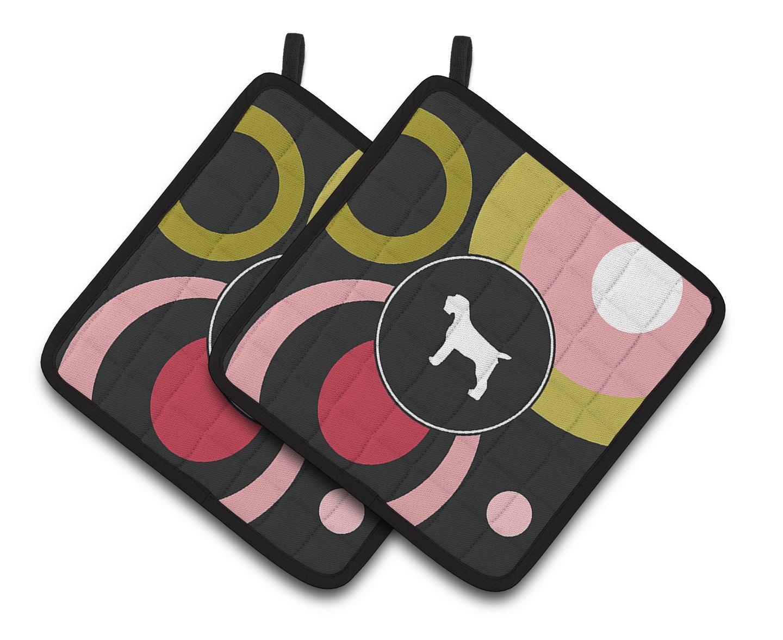 Multicolor Carolines Treasures Wirehair Pointing Griffon Pair of Pot Holders KJ1068PTHD 7.5HX7.5W