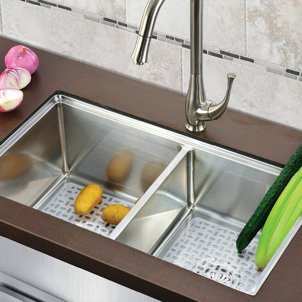 clear glass sink, clear kitchen counter, clear kitchen cabinets, clear bathroom sink, on under kitchen sink clear
