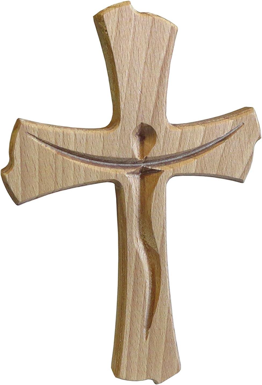 - Geschenkidee Kaltner Präsente Wandkreuz Echt libro madera Cruz Kruzifix para la pared de 20 cm moderno.
