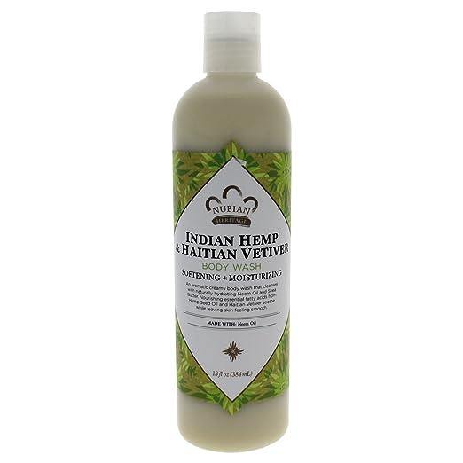 Nubian Heritage Body Wash, Indian Hemp, 13 Fluid Ounce