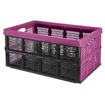 URBNLIVING - Caja de Almacenamiento Plegable de plástico DE 32 litros: Amazon.es: Hogar