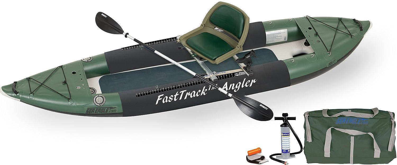 Sea Eagle 385fta FastTrack インフレータブル カヤック スイベルシート フィッシングリグパッケージ   B06XXPCTQ1