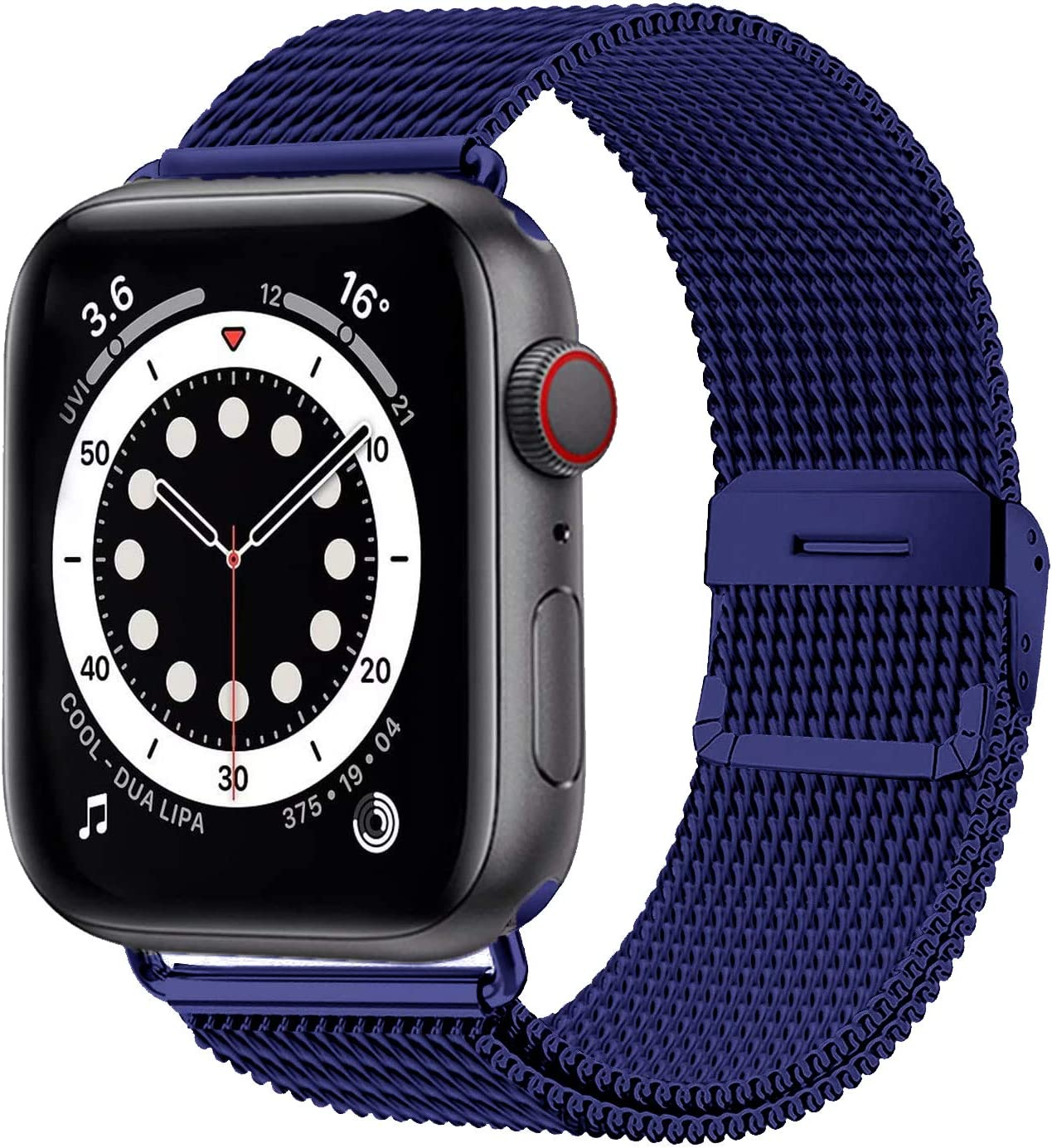 Esroyita Metal Band Compatible with Apple Watch 38mm 40mm,Sport Wristband Loop Stainless Steel Mesh Band with Strong Magnetic Closure Strap for iWatch Series 6/5/4/3/2/1,SE