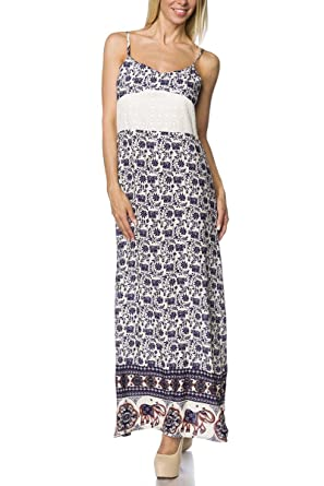 622ed14f730 Orientalisches Maxi-Kleid mit Spaghetti Trägern  Amazon.de  Bekleidung