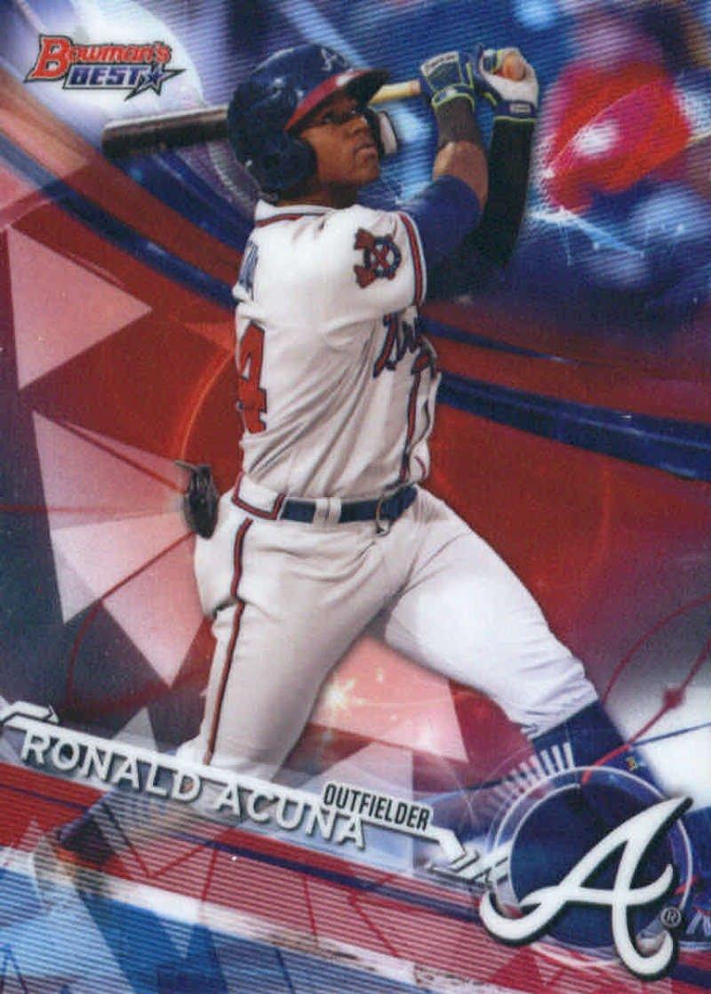 Baseball MLB 2017 Bowman's Best Top Prospects #TP-10 Ronald Acuna Braves Bowman's Best