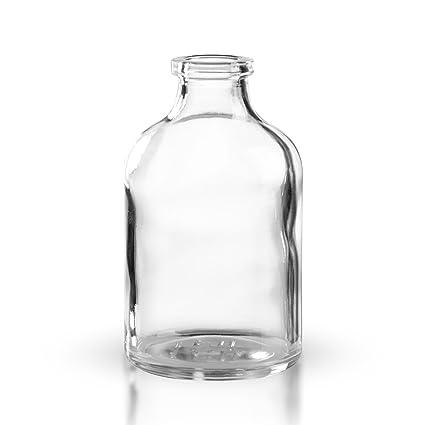 15 X bi-inyección botellas 50 ml de cristal transparente sin cierre * * *