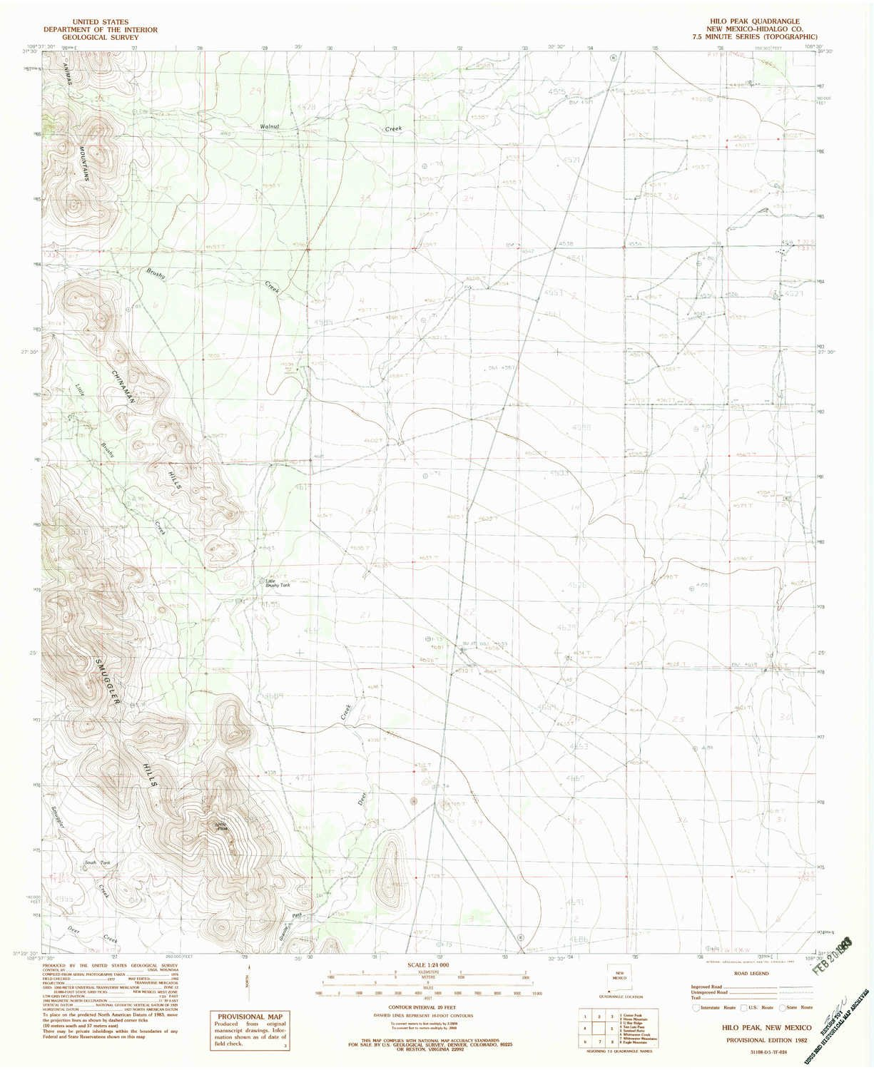 Amazon YellowMaps Hilo Peak NM topo map 1 Scale 7 5 X