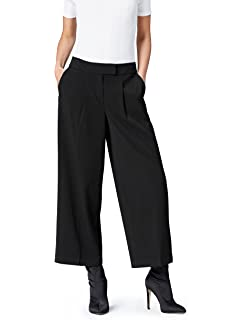 Marca Amazon - find. Pantalones de Pata Ancha para Mujer ...
