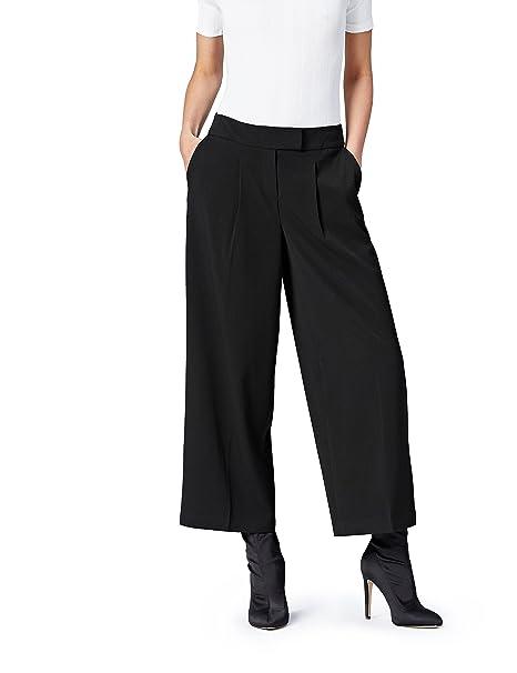 bbc88dd4b3ce find. Pantalone Palazzo alla Caviglia Donna: Amazon.it: Abbigliamento