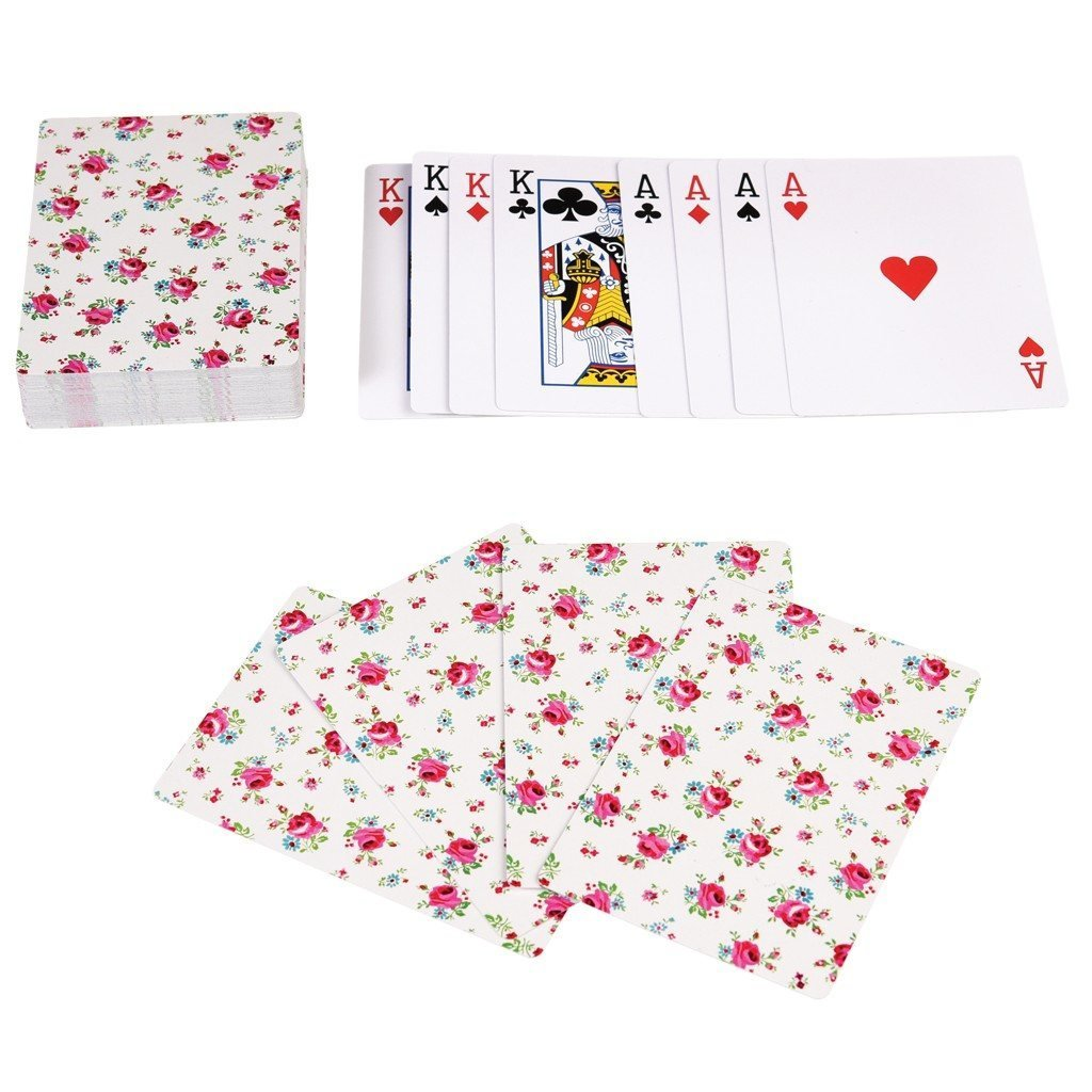dotcomgiftshop DITSY GARDEN PLAYING CARDS IN A TIN