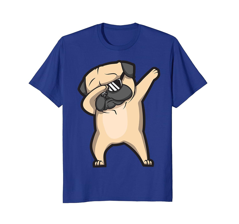 Dabbing Pug Shirt - Cute Funny Dog Dab T-Shirt-alottee gift