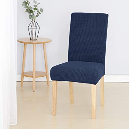 Modern Office Kitchen Spandex Elastic Chair Cover Solid Color Seat Protector Str