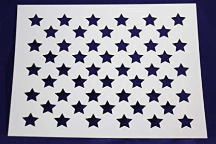 It is a photo of American Flag Star Stencil Printable regarding alphabet