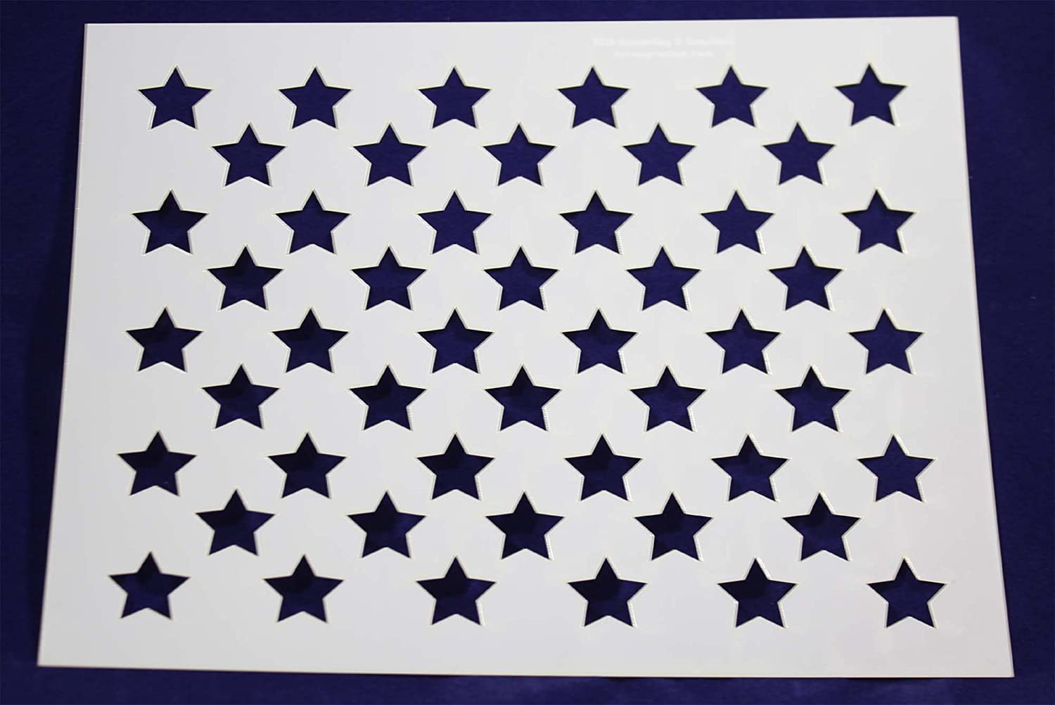 Amazon 50 star field stencil 14 mil 176h x 22w painting amazon 50 star field stencil 14 mil 176h x 22w painting crafts templates amipublicfo Choice Image