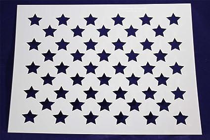 Amazon Com 50 Star Field Stencil Us American Flag 17 6 H X 22 W