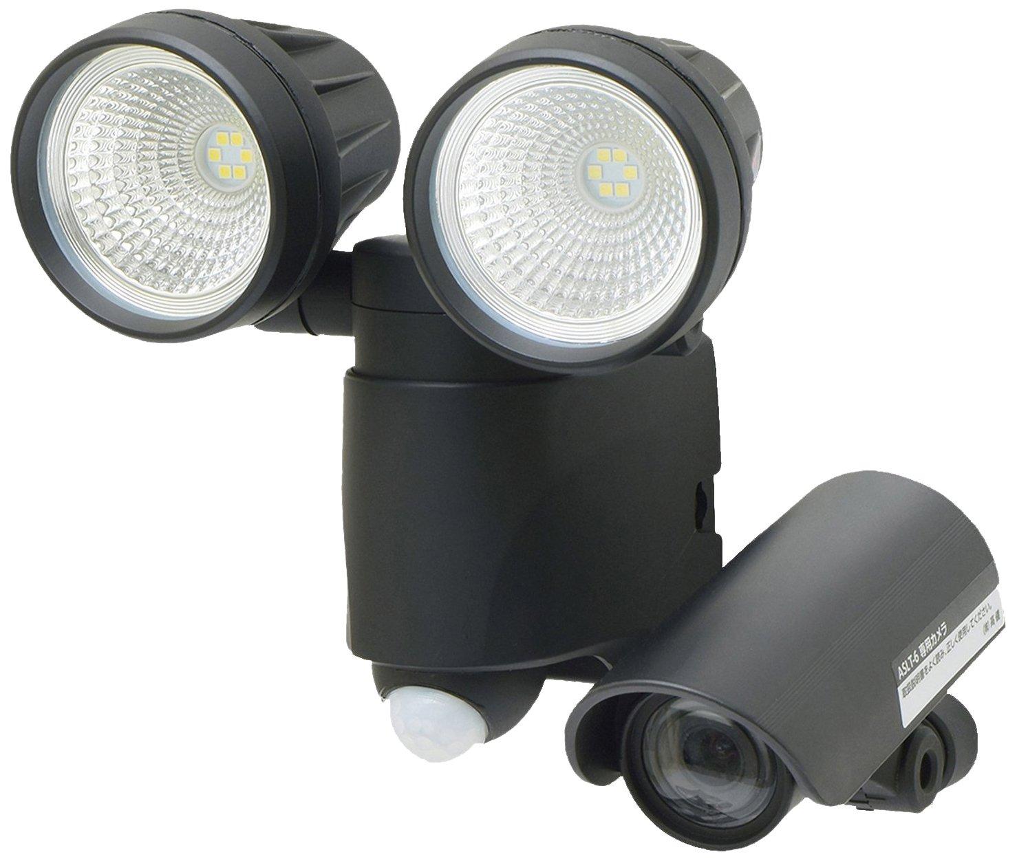 【Amazon.co.jp限定】高儀 LEDセンサーライト ダブル 6W×2 ブラック 録画機能付 防犯用品 ASLT-6BK B018FF9M1Y  ブラック