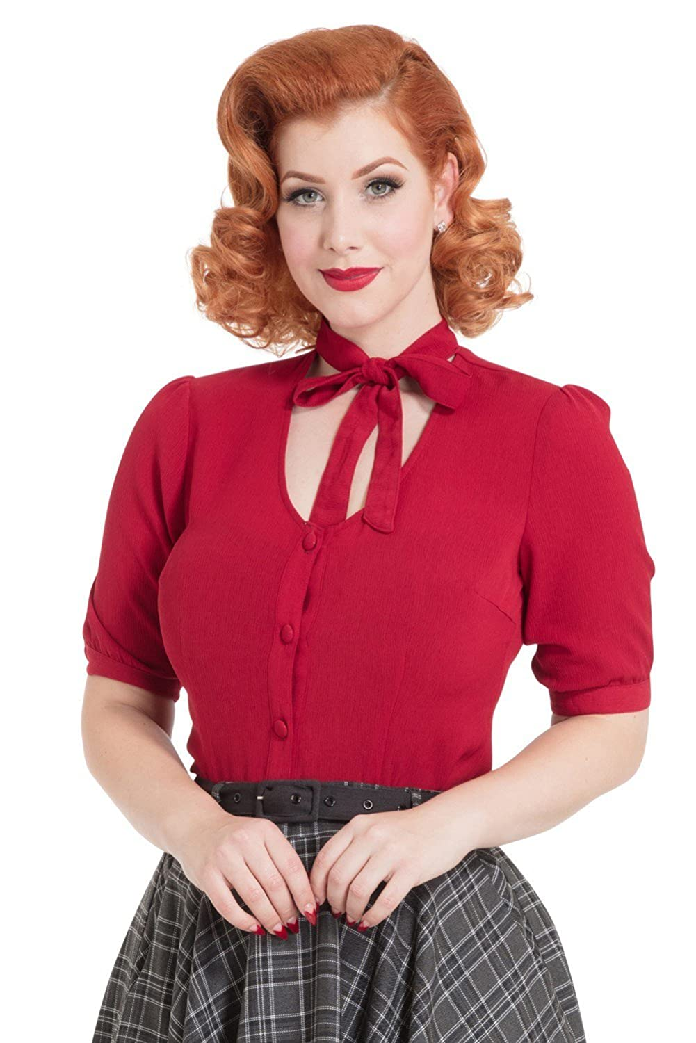 2acb8bad517 Blouse with a neck bow tie by Voodoo Vixen Mid length