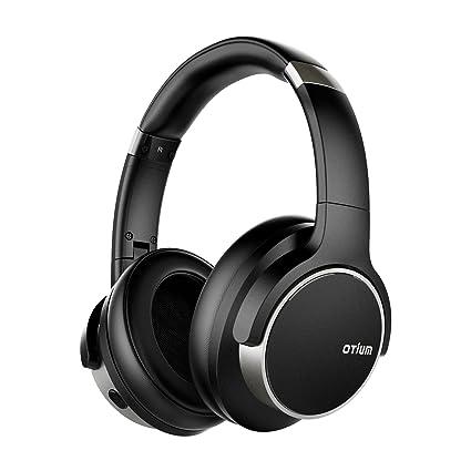 b10431a9767 Otium Noise Cancelling Headphones, Wireless Headphones Over Ear Bluetooth  Headphones with Mic Deep Bass,
