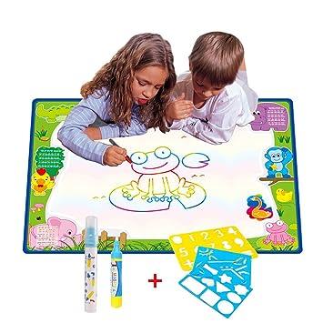 70cmx50cm Doodle Magic Tapis De Eau Dessins Arc En Ciel Tqp Ck Dessin Peinture Mat écriture 2 Doodle Water Magic Stylo 3 Stencil Niveaux