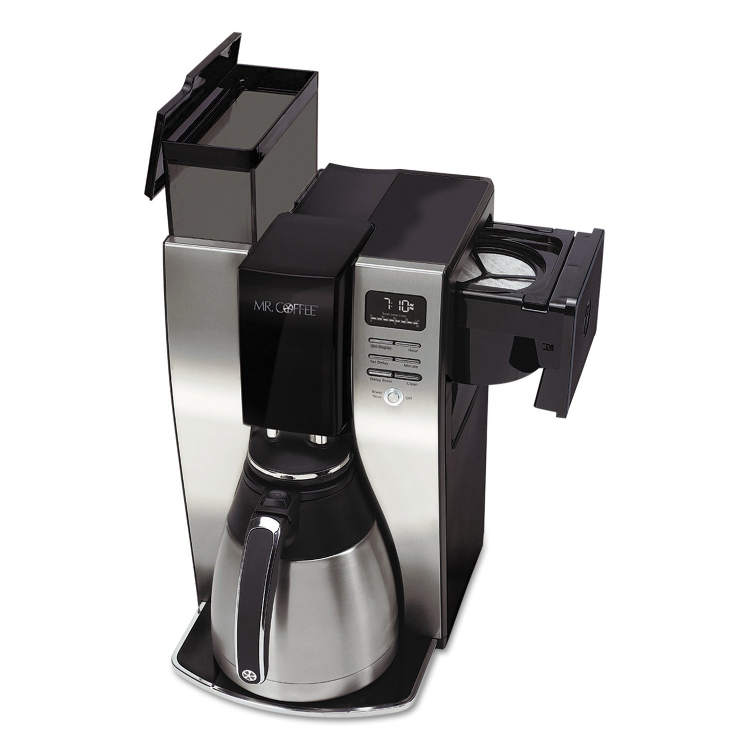 Mr. Coffee Coffee Maker, Programmable, 10-Cup, Silver