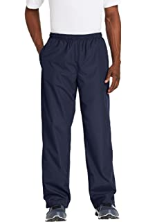 Sport Tek Wind Pant Black At Amazon Men S Clothing Store These trendy high rise windbreaker track pants glow when light reflects off of them! sport tek wind pant black at amazon men