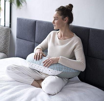 100/% coton Motherhood Housse pour coussin dallaitement /Certifi/é OEKO-TEX standard 100 motif: Arbres Bleu/