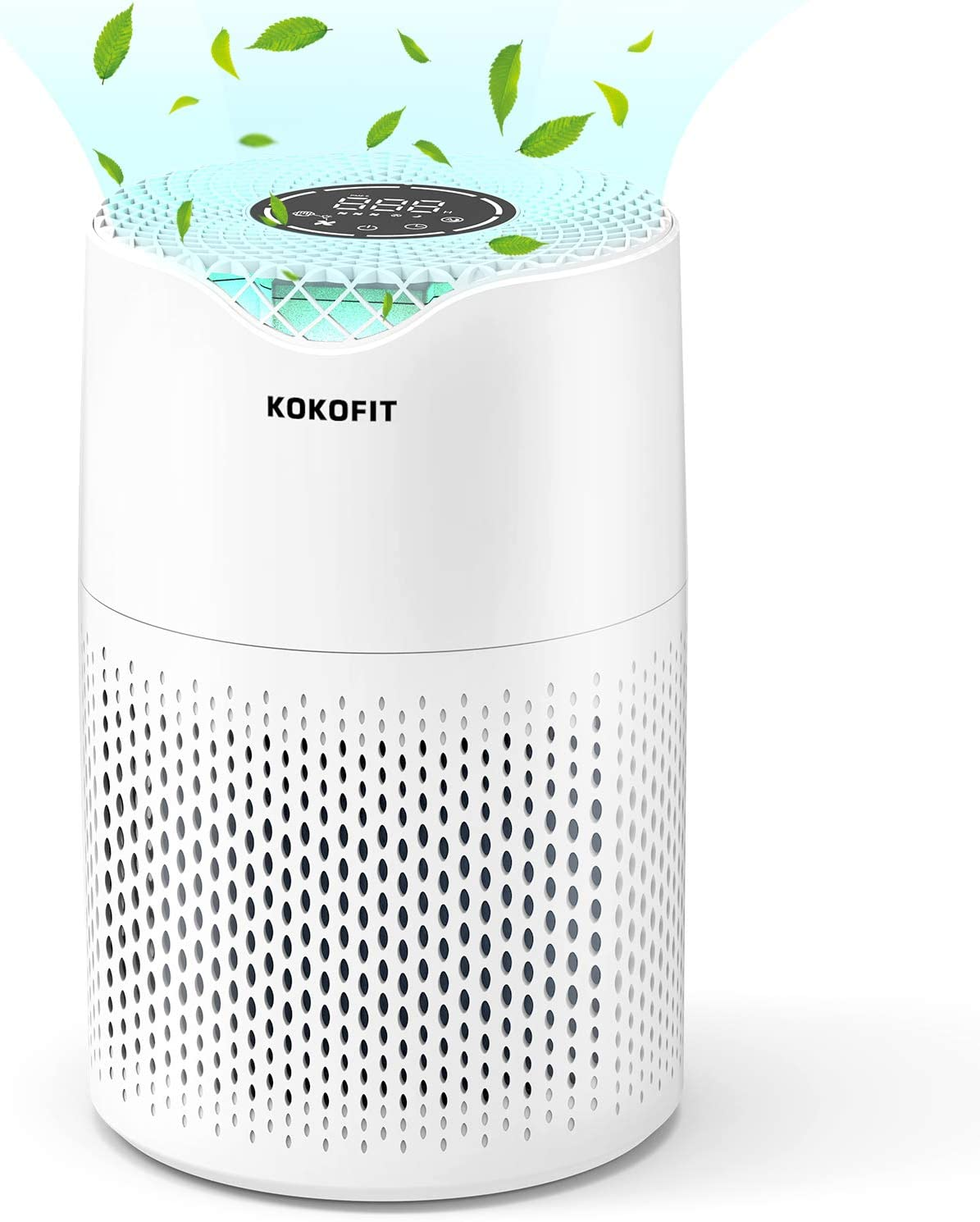 KOKOFIT Small Portable Air Purifiers for Home Large Room with True HEPA Filter Air Purifier for Allergies and Pets, Smokers, Mold, Pollen, Dust, Quiet Odor Up to 161 Sq (CADR 150)