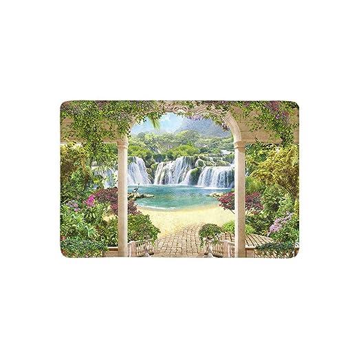 Klr6syui T Hermosa Terraza Con Vistas A La Cascada Flores De