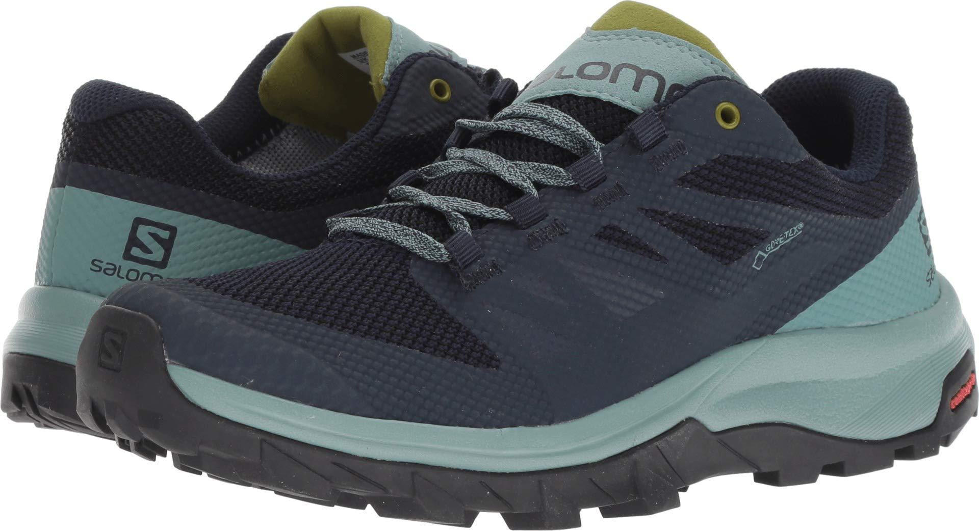 Salomon Outline GTX W Womens Hiking Boot, Trellis/Navy Blazer/Guacamole, 10