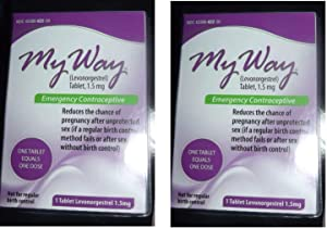 My Way Emergency Contraceptive 1 Tablet Compare to Plan B One-Step by Busuna pidoSu, two tablets