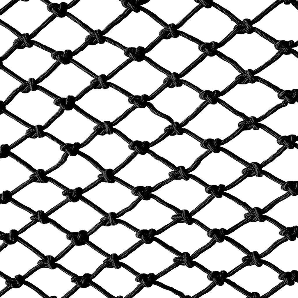 29m Filet De Corde Noir, Filet De Sécurité Pour Enfants Balcon Extérieur Décoration Filet De Prougeection Filet Escalier Anti-corde Corde Filet Clôture Filet Filet De Tissage Net Escalade Hamac Swing 3m4m