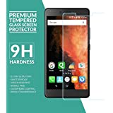 M.G.R.J ( Micromax Canvas 6 Pro E484 ) Tempered Glass Screen Protector With 2.5D Round Edge, Crystal Clear & Alcohol Wet And Dry Cloth Pad