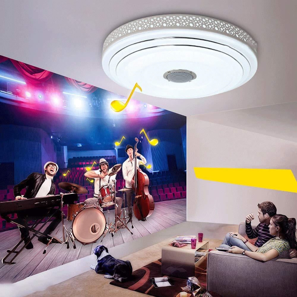 36W avec Bluetooth et la musique allume le lustre acrylique de A110V 220V LED allumant la chambre des enfants chambre /à coucher color/ée bull Le lustre sans fil intelligent du contr/ôle LED de ZXT 24W