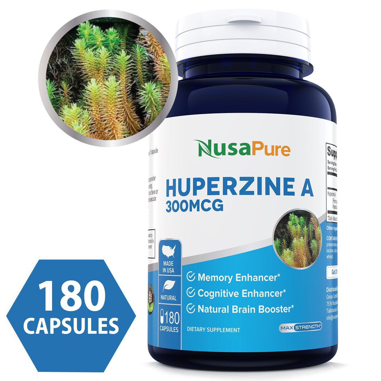 Amazon Com Best Huperzine A 300mcg 180 Capsules Non Gmo Gluten