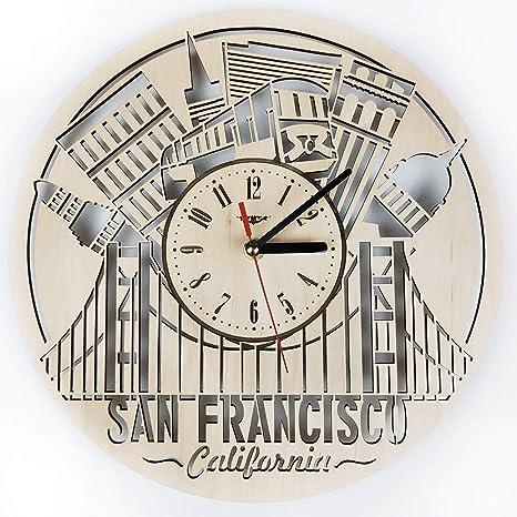 San Francisco Wood Wall Clock