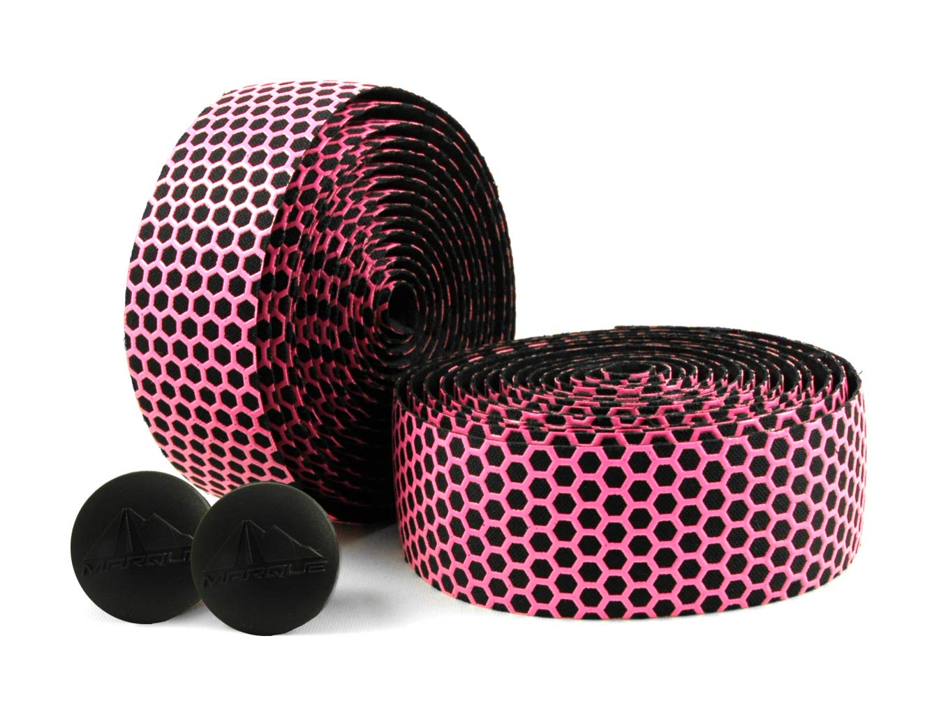 MARQUE Hex Grip Road Bike Handlebar Tape - 2PCS per Set (Pink) by MARQUE