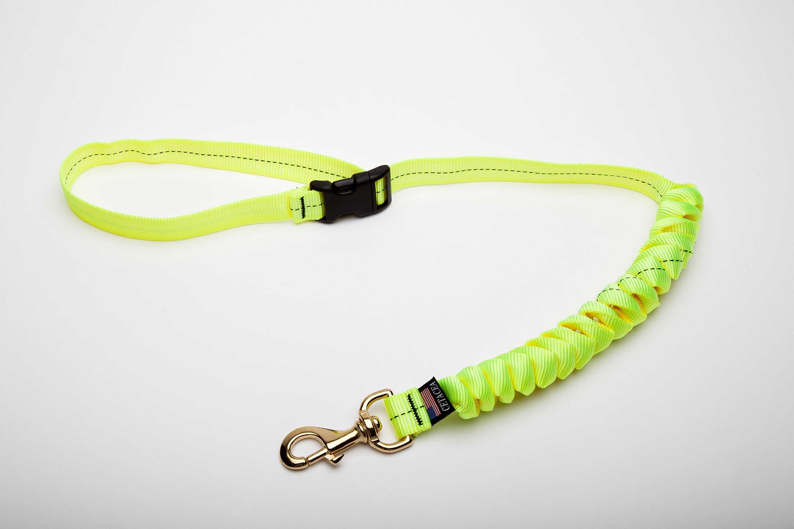 Drag-Free Pet/Dog Leash w/Quick Release Handle - 1'' Wide - Lime by Cetacea