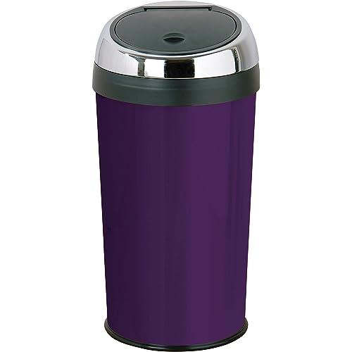 Premier Housewares Purple Push Top Bin 30 Litre