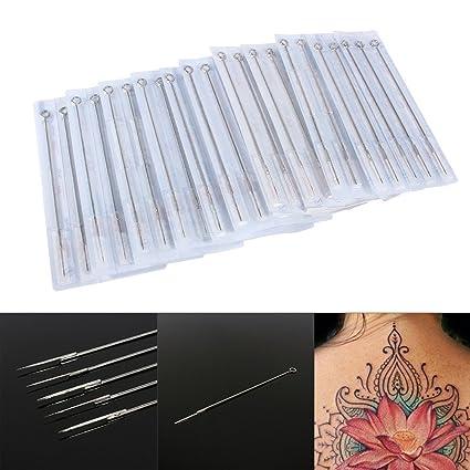 comprare on line sfumature di super economico Aghi per tatuaggio, aghi tondi pre-sterilizzati assortiti per macchina da  tatuaggio, kit e accessori per tatuaggi, misura mista 1RL 3RL 5RL 7RL 9RL  ...