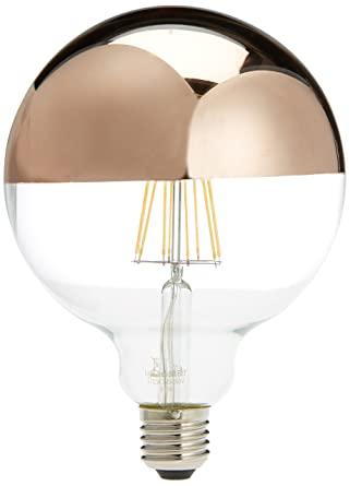 LightED Bombilla LED Globo Espejo E27, 6 W, Oro Rosa 125 x 170 mm