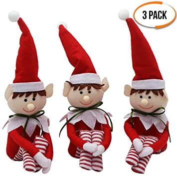 Christmas Elves.The Twiddlers 3 Stuffed Christmas Elves Santa Elf Doll Accessories Ideal For Christmas Parties Xmas Decorations On Shelf Table Perfect For