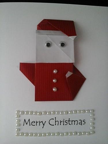 Bc Worldwide Ltd Handmade Paper Craft Origami Santa Claus Saint - Origami-papa-noel