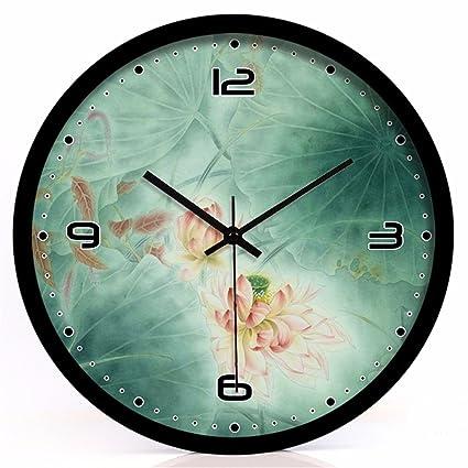 FortuneVin Relojes de Pared Mute Silencioso Cocina Decorativas para el hogar la cocina la oficina la ...