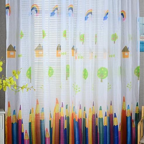 Vorhänge ösen Wohnzimmer Modern Jamicy® 100 X 200cm Neu Mode Auto  Transparent Orientalisch Muster Stift